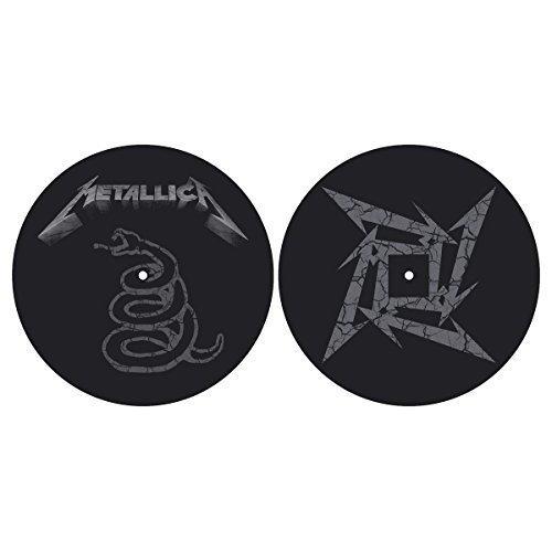 The Black Album (2 Slipmats) [zubehör] Metallica - Pair Dj Record Turntable -  metallica black album pair dj record turntable slipmat decks vinyl