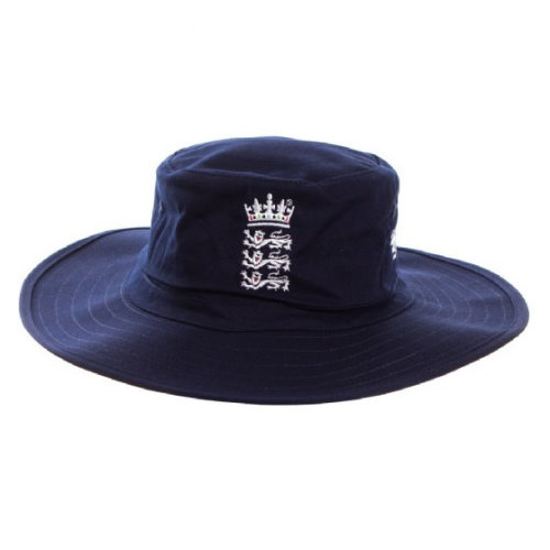 New Balance ECB England Wide Brim Cricket Sun Hat, Navy