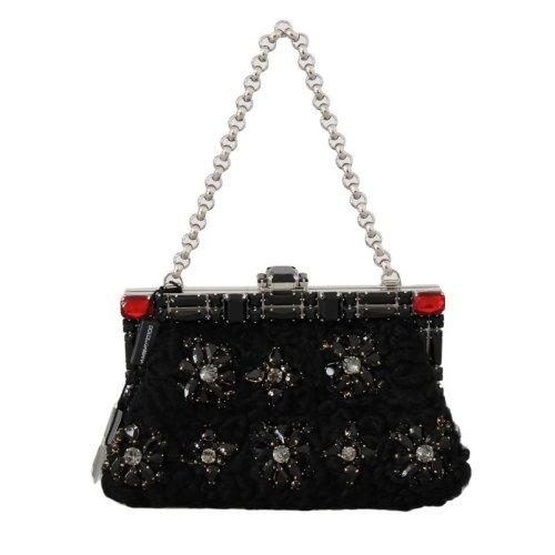 ea32fc6fdf Dolce & Gabbana Black Crystal Bag VANDA Clutch Bag on OnBuy