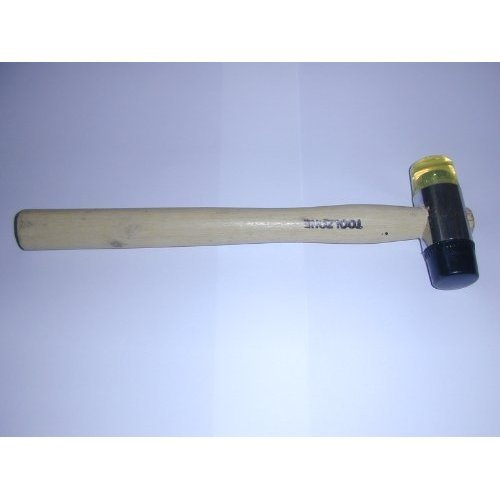 Toolzone 30mm Wood Shaft Rubber And Nylon Face Hammer