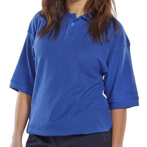 Click CPPKSRL Premium Polo Shirt Royal Blue Large