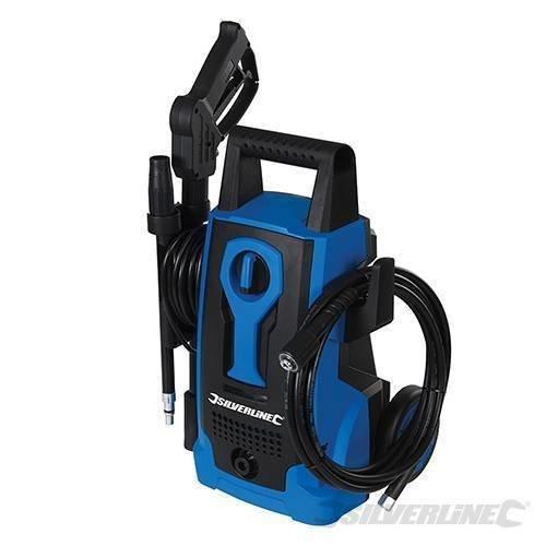 Silverline 1400w Pressure Washer 105bar Max -  1400w pressure washer 105bar max