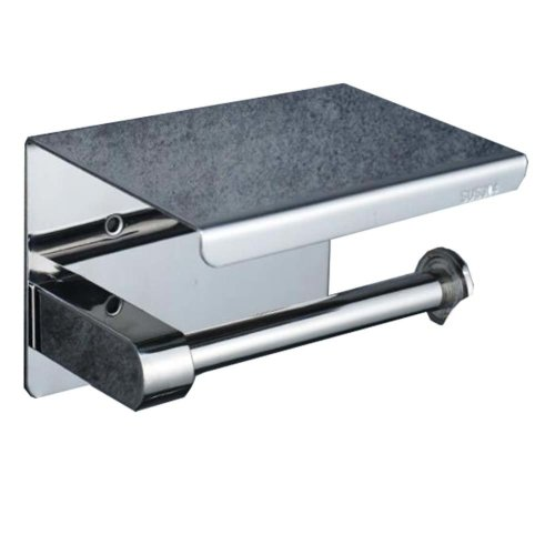Wall Mounted Toilet Paper Holder Self-Adhesive  Stainless Steel Tissue Holder