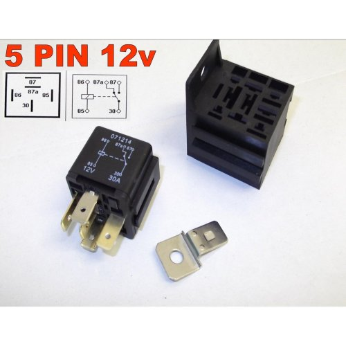 5 PIN 12v 30Amp AUTOMOTIVE CHANGEOVER RELAY CAR VAN WITH BASE ( 7-100 )