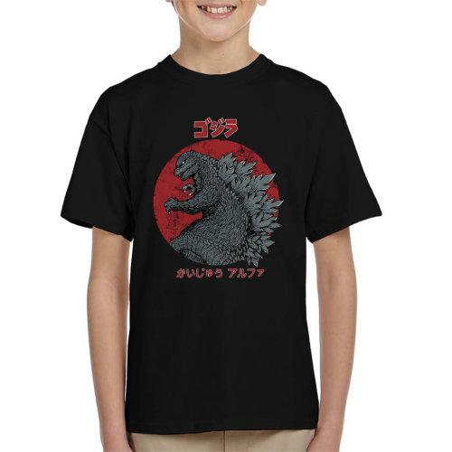 Kaiju Alpha Godzilla Kid's T-Shirt