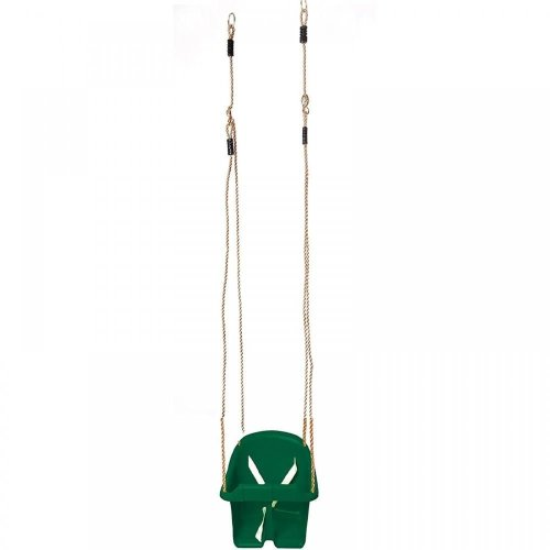 Childrens Rope Swing Kids Toddler Adjustable Outdoor Garden Bucket Safety Seat[Green]