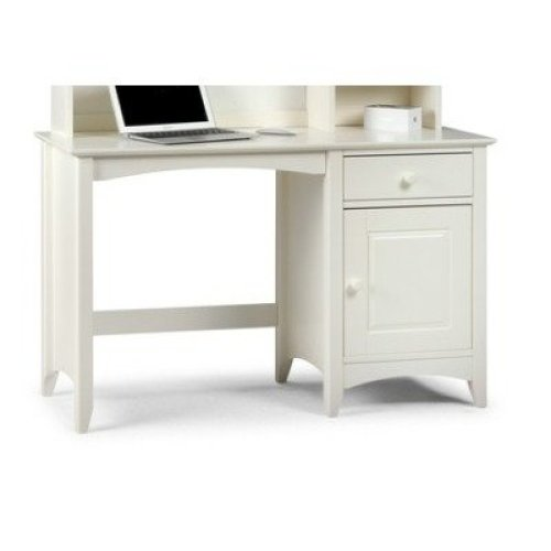 Treck White Stone Desk - 1 Door 1 Drawer - Fully Assembled Option Flat Pack Chair(+50) Hutch(+149.99)