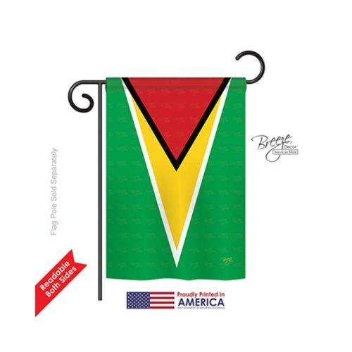 Breeze Decor 58254 Guyana 2-Sided Impression Garden Flag - 13 x 18.5 in.
