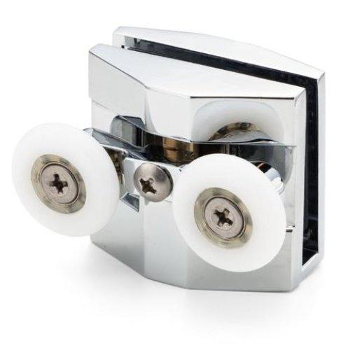 1 x Double Top Zinc Alloy Shower Door Rollers/Runners/Wheels for Novellini Kuadra Wheel Diameter 23mm NOV1