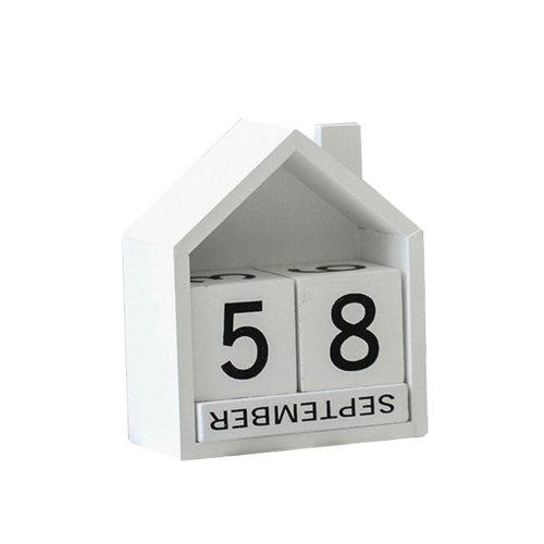 Wooden Permanent Calendar Creative Calendar Decoration For Home / Office -A7