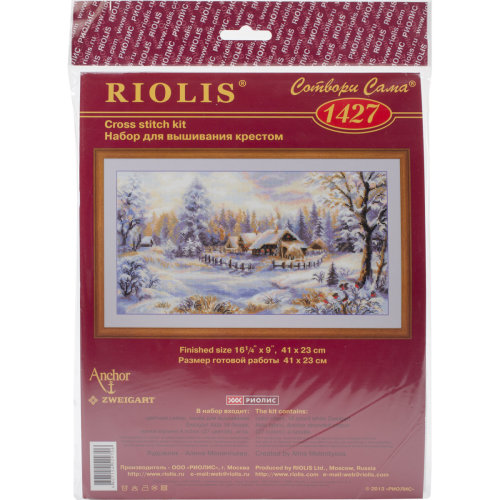 """Winter Evening Counted Cross Stitch Kit-16""""X9"""" 14 Count"""