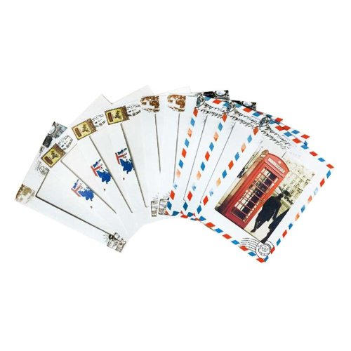 Retro Postal Marking Pattern Hanging Wall Paper Photo Frames