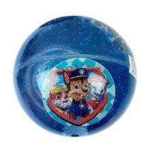Paw Patrol Glitter-Filled Red & Blue Flashing Light-Up Bouncy Ball - BNIB