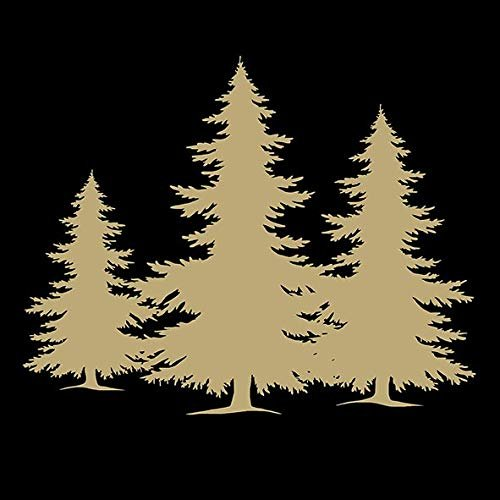 Ambiente 3 Ply Paper Napkins, Tree Silhouette Black Gold