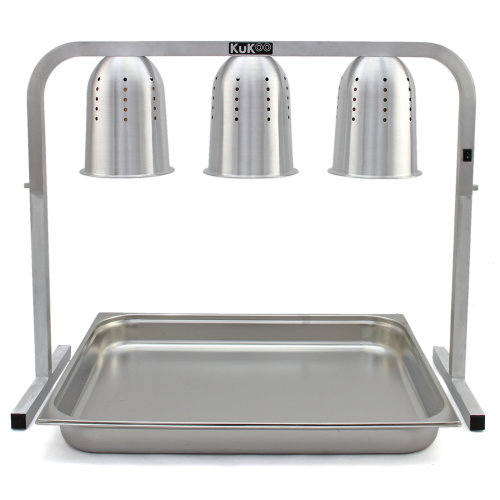 KuKoo 3 Heated Lamps Food Warmer