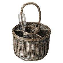 Special Event Basket Wicker Basket Wine Glasses