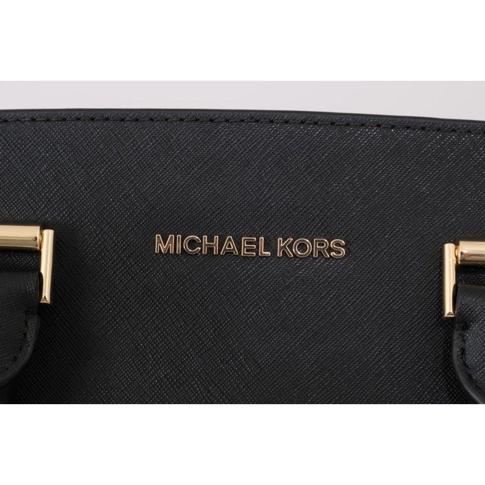 63da05ecacd2 ... Michael Kors Handbags Black SELMA Leather Satchel Bag - 5. >
