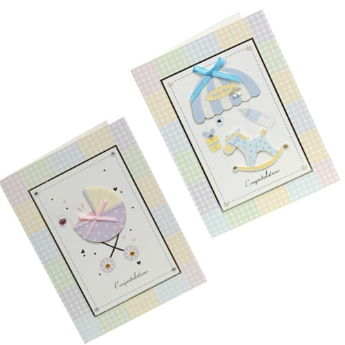 Lovely Baby Thank You Cards Baby Shower Set of 10 3D Cards,TwinKids