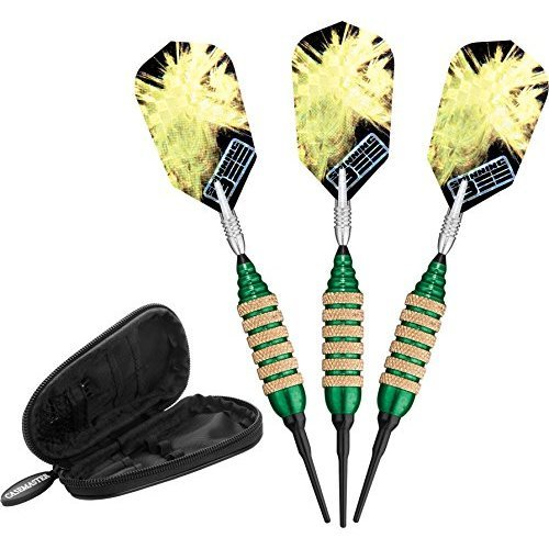 Viper Spinning Bee Soft Tip Darts with Casemaster Storage/Travel Case, Green, 16 Grams