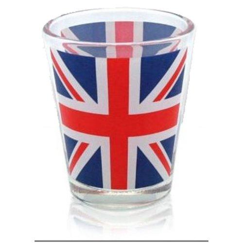 Union Jack Flag Shot Glass Souvenir Gift Hen Stag Party Wedding Birthday UK GB