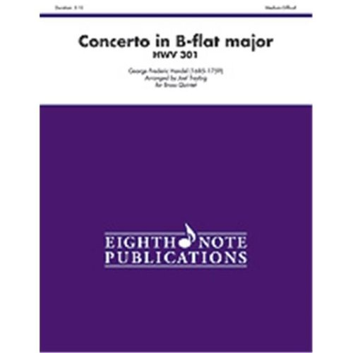 Alfred 81-BQ12377 Concerto in B-flat Major HWV 301
