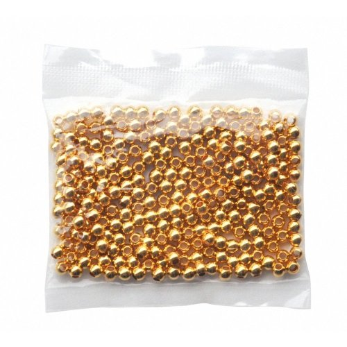 Pbx2470715 - Playbox - Metal Beads (gold) - Ï 5 Mm - 250 Pcs