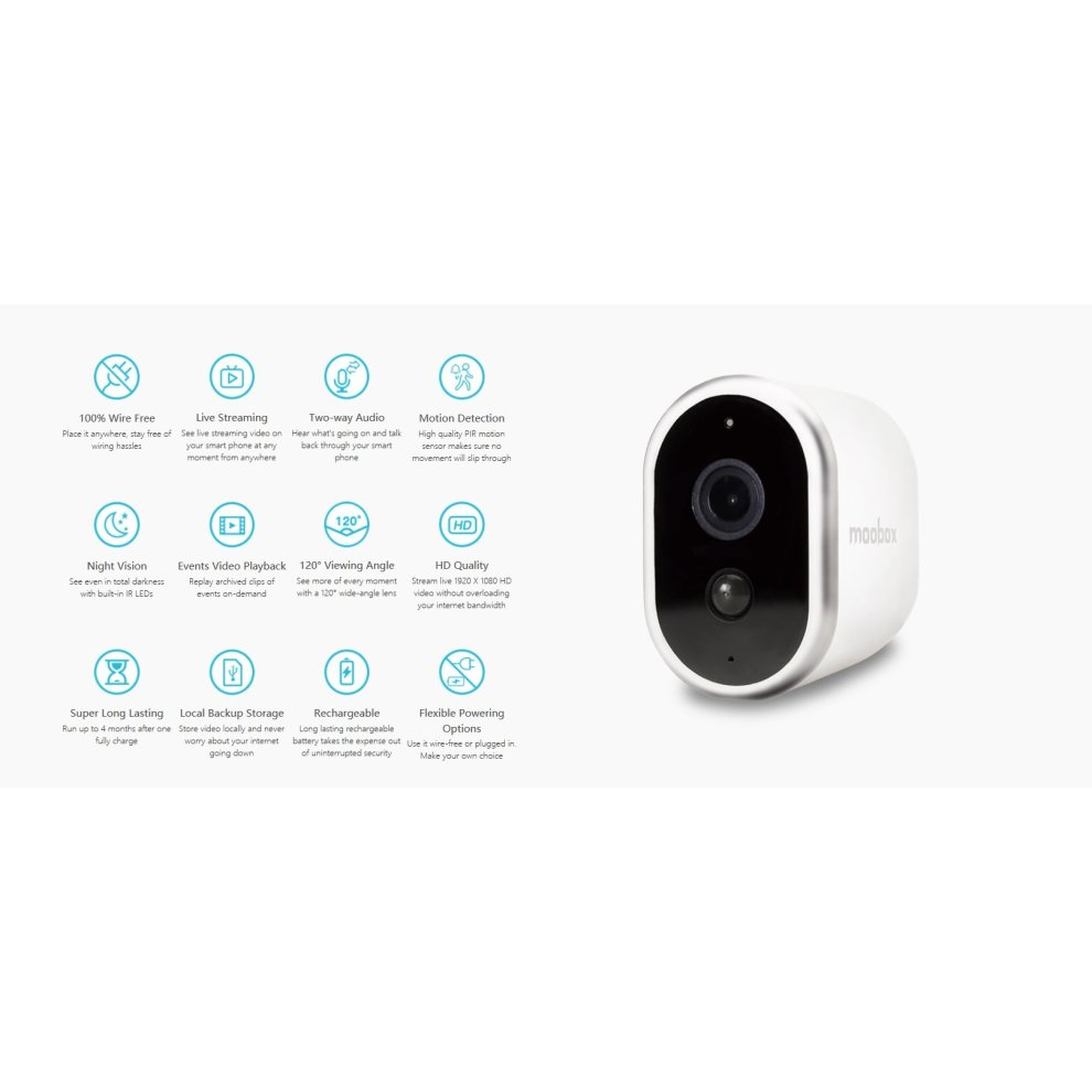 Swell Moobox Pro Wire Free 1080P Hd Home Security Camera System With Pir Wiring Cloud Peadfoxcilixyz