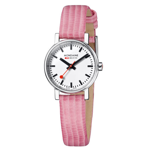 Mondaine Evo 26 A658.30301.11SBP Watch Lady White Dial 26 mm Pink Leather Strap