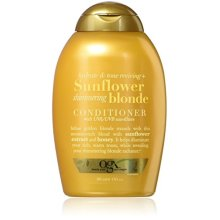OGX Hydrate &amp Color Reviving + Sunflower Shimmering Blonde Conditioner, 13 Ounce