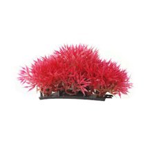 Set of 3 Emulational Plants Aquarium Decor Fish Tank Decoration,Red