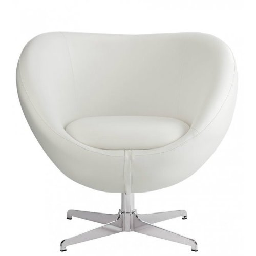 Balisy Modern Swivel Chair in White Contemporary Funky Design