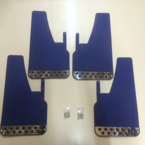 Rally Mudflaps Blue x 4 Full Set Universal Fit