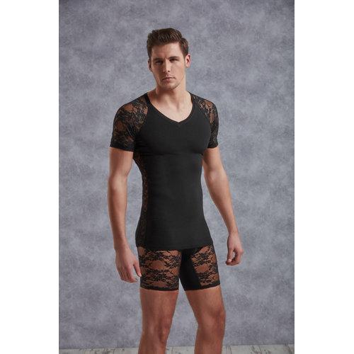 Doreanse T-Shirt Men - Black Small Men's Lingerie Shirts - Doreanse