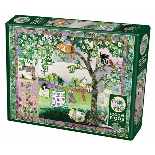 CBL80231 - Cobblehill Puzzles 1000 pc - Wind in the Whiskers