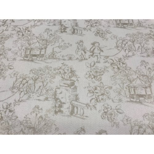 fabric cotton toile de jouy - twill 100% cotton 2 X 1 METERS