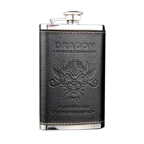 [BLACK DRAGON] Creative Hiking/Camping Stainless Steel Hip Flask, 5oz