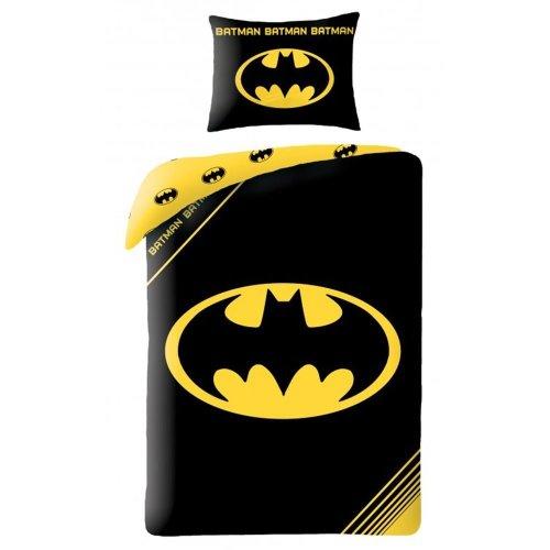 Batman Logo Black Single Duvet and Pillow Case