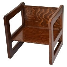 Obique Multifunctional Furniture 1 Small Chair Beech Wood, Dark