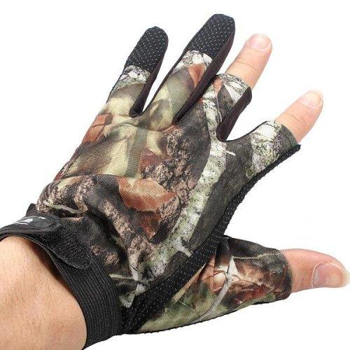 3 Cut Finger Anti-Slip Camouflage Fishing Hunting Gloves Waterproof