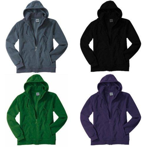 James and Nicholson Unisex Microfleece Hooded Jacket