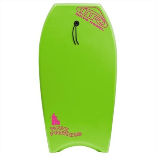Wave Rebel B130W-GN Wave Princess Womens 39 in. Body Board, Lime Green