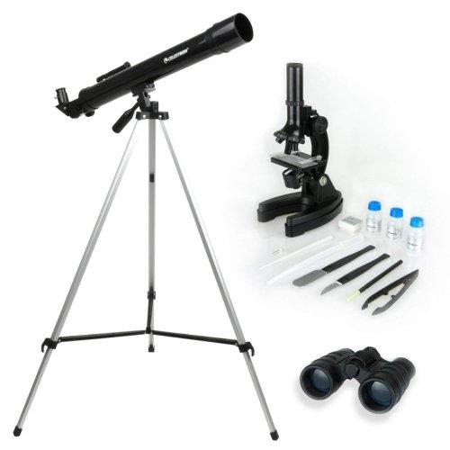 Celestron Telescope,Microscope and Binocular Science Kit