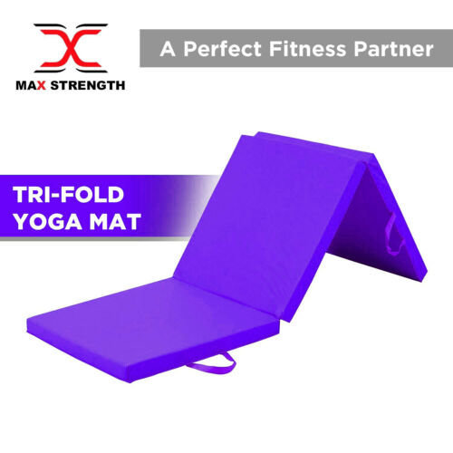 "Tri Folding Mat 2"" Thick Foam Yoga Exercise Gym Fitness 6ft X 2ft"