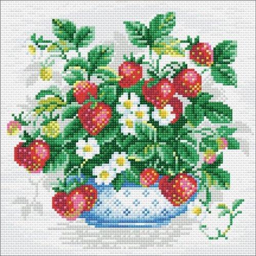 Riolis RAM0008 Diamond Mosaic Embroidery Kit - Basket of Strawberries