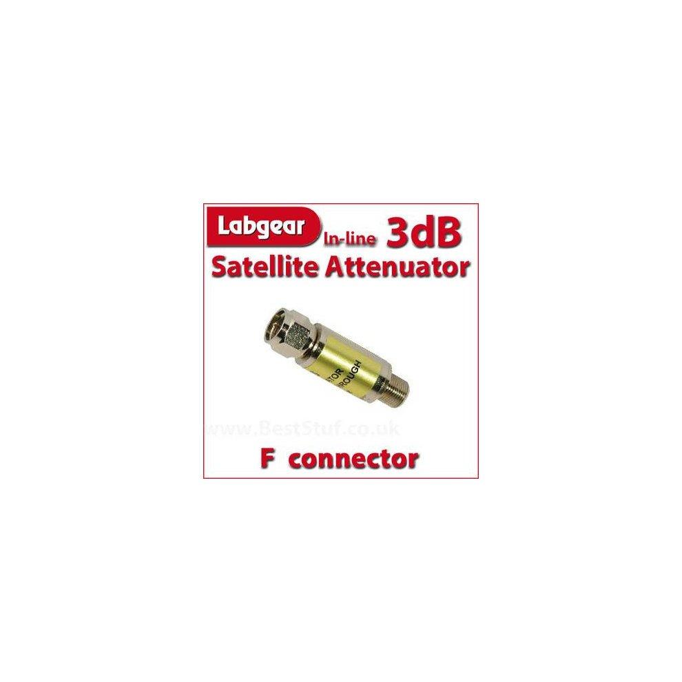 Labgear 3dB Inline Satellite Attenuator F connector Male to Female
