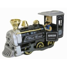 Simulation Locomotive Toy Model Trains Steam Train, Black (15*5*17CM)