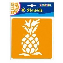 Pbx2470639 - Playbox - Stencils (fruits) - 145 X 145 Mm - 6 Pcs