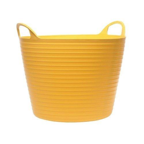 Faithfull FAIFLEX15Y Heavy-Duty Polyethylene Flex Tub 15 Litres Yellow