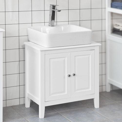 SoBuy® FRG202-W, Under Sink Bathroom Storage Cabinet with Double Doors
