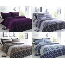 Texture Stripe Printed Modern Duvet Cover Bedding Set All Sizes